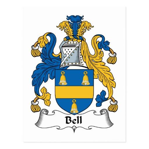 Escudo de la familia de Bell Tarjeta Postal