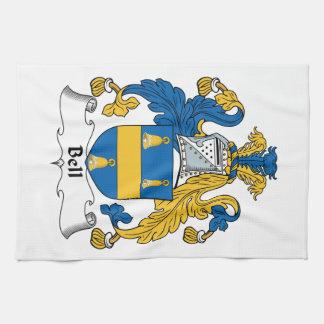 Escudo de la familia de Bell Toallas De Mano
