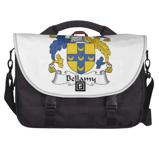Escudo de la familia de Bellamy Bolsas Para Portátil