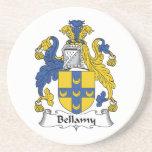 Escudo de la familia de Bellamy Posavaso Para Bebida