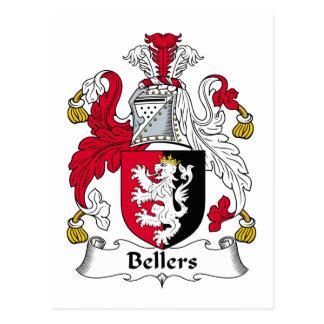 Escudo de la familia de Bellers Tarjeta Postal