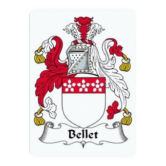 Escudo de la familia de Bellet Invitación Personalizada