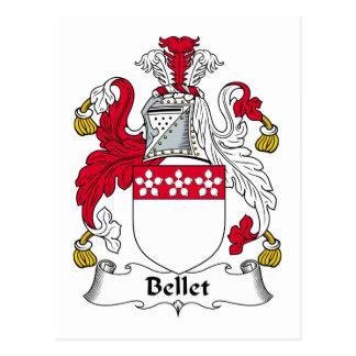 Escudo de la familia de Bellet Tarjeta Postal