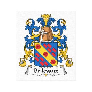 Escudo de la familia de Bellevaux Lona Envuelta Para Galerias