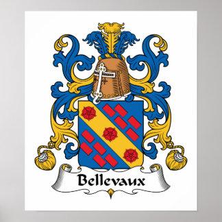 Escudo de la familia de Bellevaux Poster