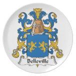 Escudo de la familia de Belleville Platos Para Fiestas