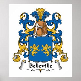 Escudo de la familia de Belleville Póster