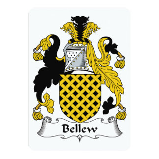 """Escudo de la familia de Bellew Invitación 5"""" X 7"""""""
