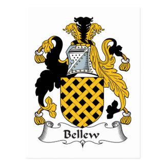 Escudo de la familia de Bellew Postal