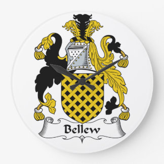 Escudo de la familia de Bellew Reloj Redondo Grande