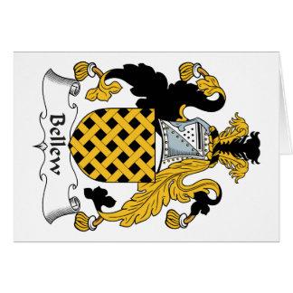 Escudo de la familia de Bellew Tarjeta De Felicitación