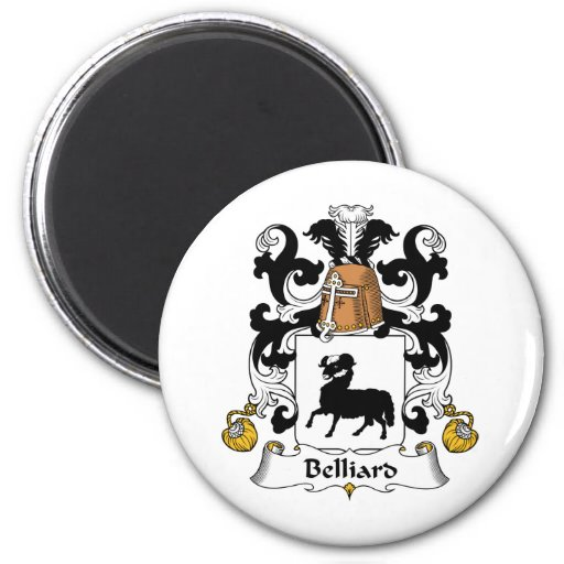 Escudo de la familia de Belliard Imán Redondo 5 Cm