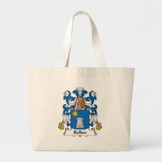 Escudo de la familia de Bellier Bolsas De Mano