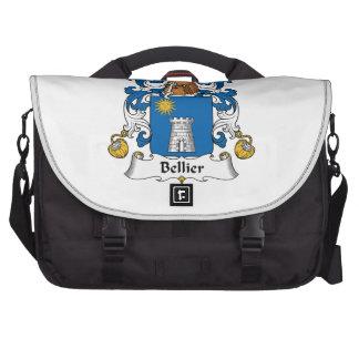 Escudo de la familia de Bellier Bolsas De Portatil