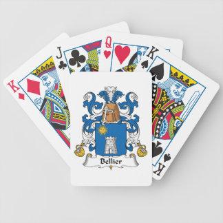Escudo de la familia de Bellier Baraja Cartas De Poker