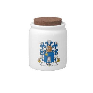 Escudo de la familia de Bellier Plato Para Caramelo