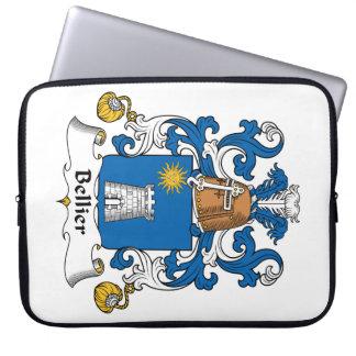 Escudo de la familia de Bellier Funda Computadora