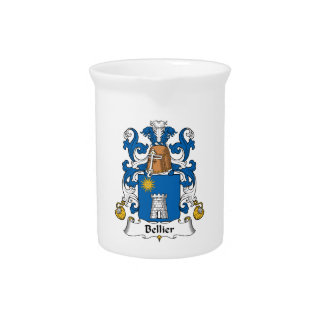 Escudo de la familia de Bellier Jarras Para Bebida