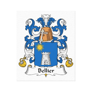 Escudo de la familia de Bellier Lona Envuelta Para Galerias