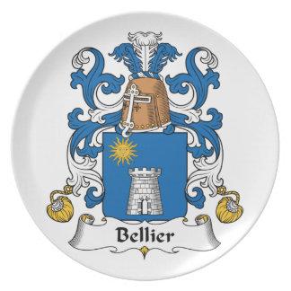 Escudo de la familia de Bellier Platos