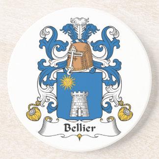 Escudo de la familia de Bellier Posavasos Diseño