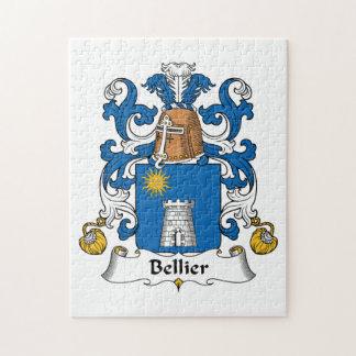 Escudo de la familia de Bellier Rompecabeza Con Fotos