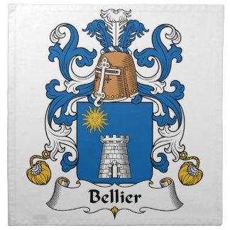 Escudo de la familia de Bellier Servilletas