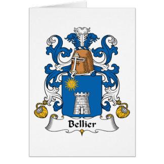 Escudo de la familia de Bellier Tarjeta