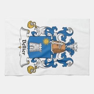 Escudo de la familia de Bellier Toalla De Cocina