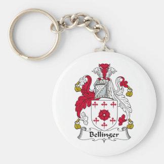Escudo de la familia de Bellinger Llavero Redondo Tipo Pin