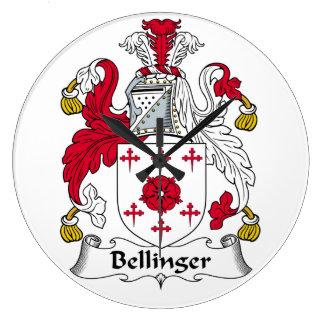 Escudo de la familia de Bellinger Reloj Redondo Grande