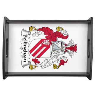 Escudo de la familia de Bellingham Bandejas
