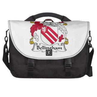 Escudo de la familia de Bellingham Bolsas De Ordenador