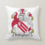 Escudo de la familia de Bellingham Cojines