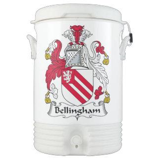 Escudo de la familia de Bellingham Vaso Enfriador Igloo