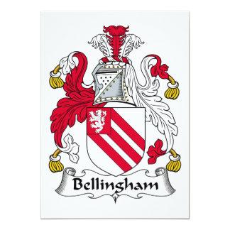 Escudo de la familia de Bellingham Invitación 12,7 X 17,8 Cm