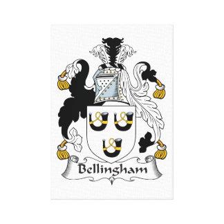 Escudo de la familia de Bellingham Impresión En Lienzo Estirada
