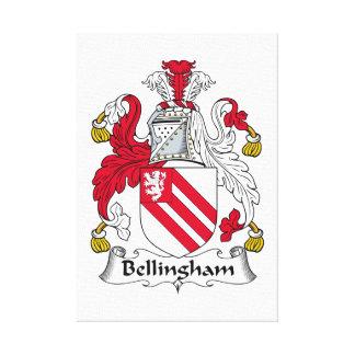 Escudo de la familia de Bellingham Lienzo Envuelto Para Galerías