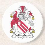 Escudo de la familia de Bellingham Posavasos Personalizados