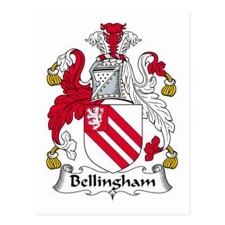 Escudo de la familia de Bellingham Postales