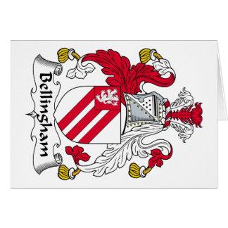 Escudo de la familia de Bellingham Tarjetas