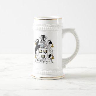 Escudo de la familia de Bellingham Tazas De Café