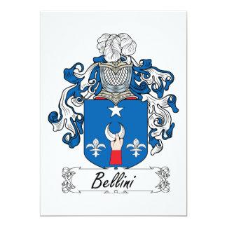 Escudo de la familia de Bellini Invitacion Personal
