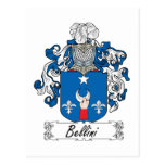 Escudo de la familia de Bellini Postal