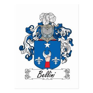Escudo de la familia de Bellini Tarjeta Postal