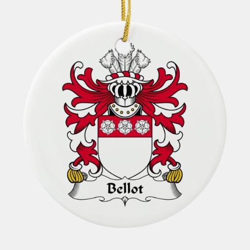 Escudo de la familia de Bellot Ornamento Para Arbol De Navidad