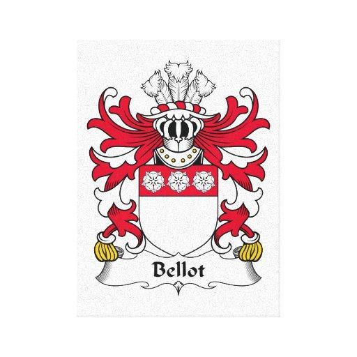 Escudo de la familia de Bellot Lona Envuelta Para Galerías