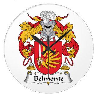 Escudo de la familia de Belmonte Reloj Redondo Grande