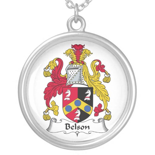 Escudo de la familia de Belson Colgante Redondo