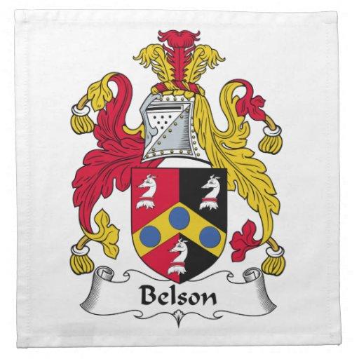Escudo de la familia de Belson Servilletas